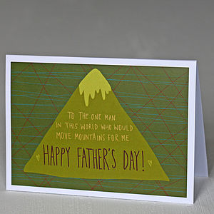 'Happy Father's Day Move Mountains' A6 Greetings Card - father's day cards
