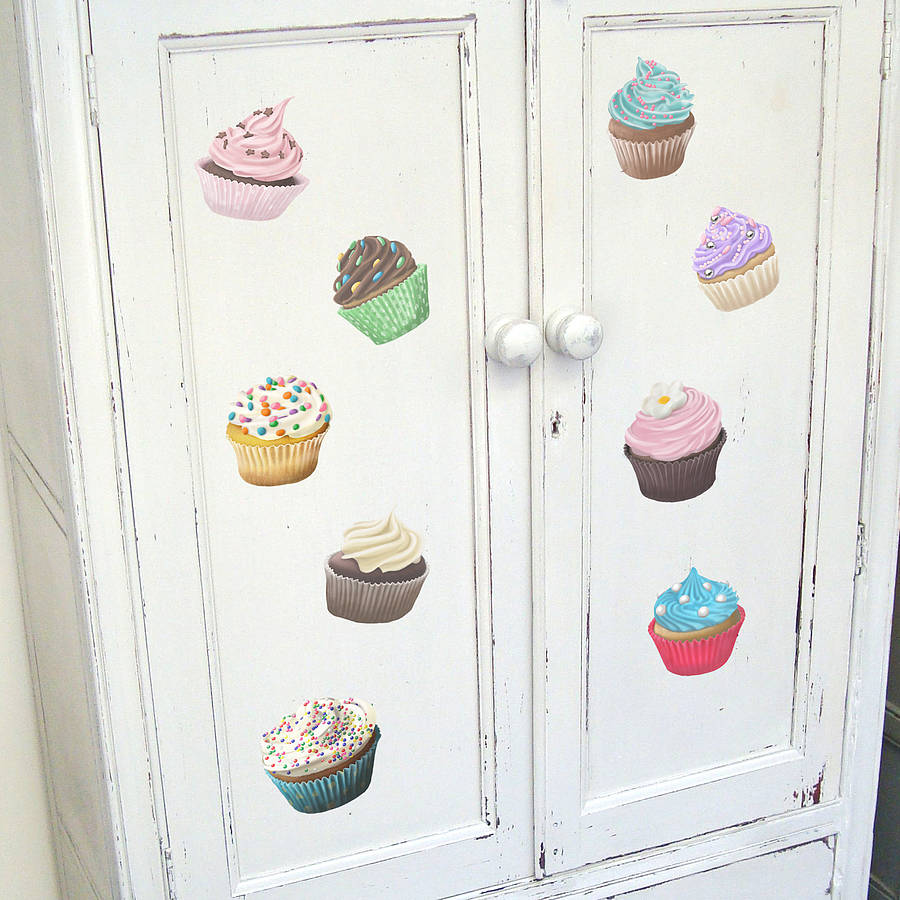 Cup Cake Wall Stickers By Oakdene Designs
