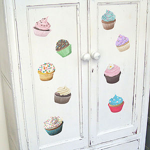 Cup Cake Wall Stickers - wall stickers