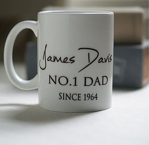 Personalised 'Best Dad' Ceramic Tea Cup