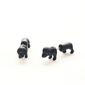 Sausage Dog Stud Earrings - earrings