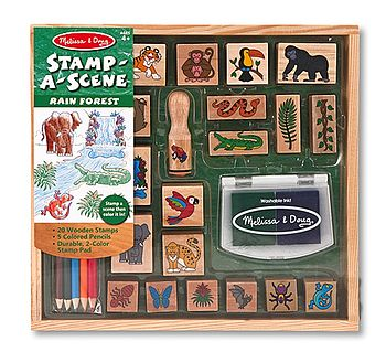 Rain Forest Stamp Scene Set