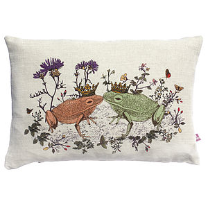 Woodlands Frog Cushion - nursery cushions