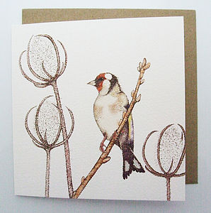'Goldfinch' Greetings Card
