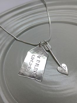 Silver Arrow And Tag Charms