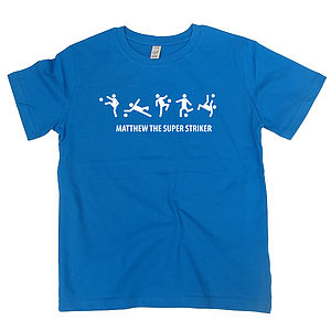 Personalised Five A Side Child's T Shirt