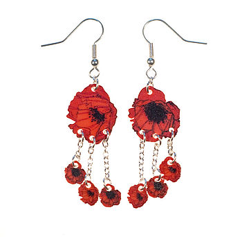 Cascade Flower Earrings In Three Designs