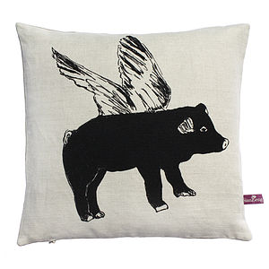 Flying Pig Cushion - cushions