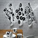 MP3 Music Tea Towel - Black & White
