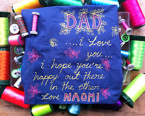 Fathers Day 'I Love You Dad' Art Handkerchief