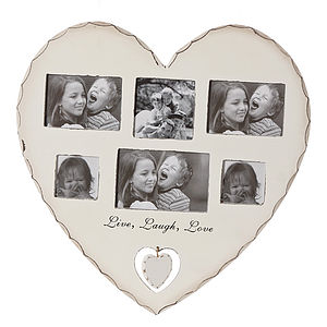 'Live Laugh Love' Heart Photo Frame