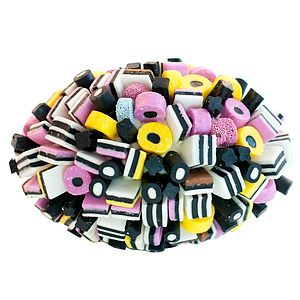 Allsorts Edible Rugby Ball - sweets