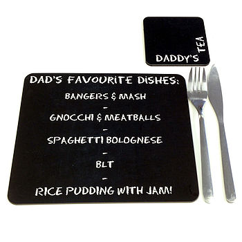Personalised Chalkboard Placemat