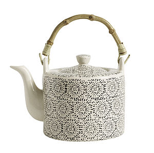 Oriental Style Blossom Teapot By Nordal - teapots