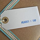 'Number One Dad' Gift Tag