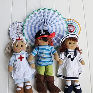 Character Rag Doll - traditional toys & games