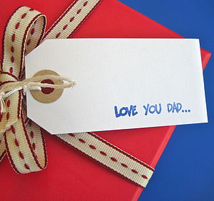 'Love You Dad' Gift Tag - other labels & tags