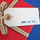 'Love You Dad' Gift Tag