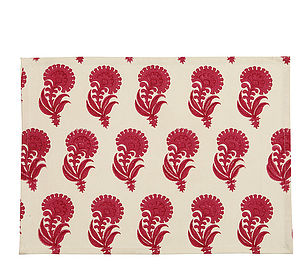 Set Of Two Aravalli Carnation Placemats - dining room