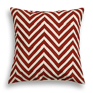 Delwara Chevron Cotton Cushion Cover - bedroom