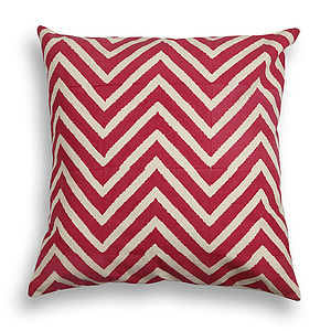 Delwara Chevron Cotton Cushion Cover - view all sale items