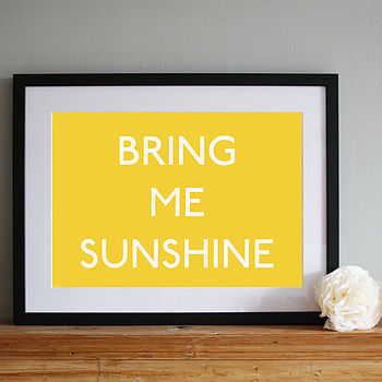 'Bring Me Sunshine' Nostalgic Art Print