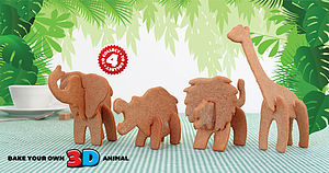 Bake Your Own 3 D Safari Animal - baking
