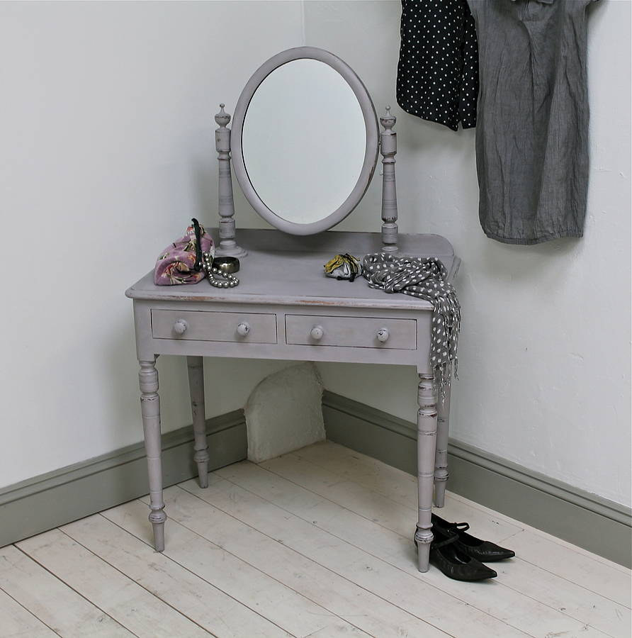Painted victorian dressing table by distressed but not
