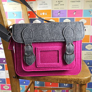 Contemporary Felt Satchel - women's accessories