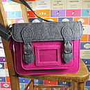 Contemporary Felt Satchel