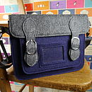 small navy satchel
