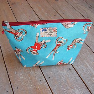 Sock Monkey Cosmetic Toiletry Wash Bag - shop by price