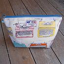 Typewriter Cosmetic Toiletry Wash Bag