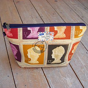 Postage Stamp Toiletry Wash Bag - wash & toiletry bags