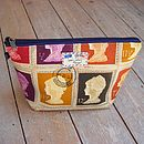Postage Stamp Toiletry Wash Bag