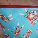 Sock Monkey Wash Bag Close Up