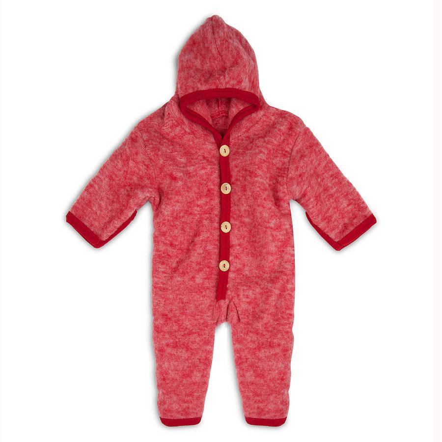 Organic Merino Wool Baby Snugglesuit Pramsuit By Lana