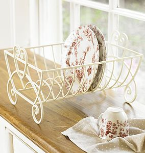 Country Cream Iron Plate Drainer