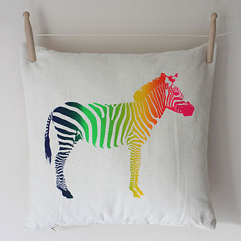 Screen Printed Zebra Cushion whole