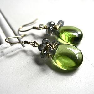 Woven Teardrop Earrings - earrings