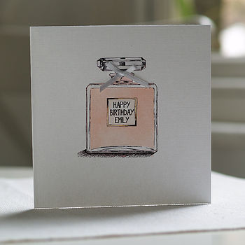 Personalised Perfume Birthday Card