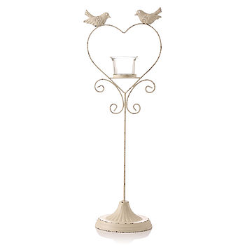 Lovebird Tall Tealight Holder
