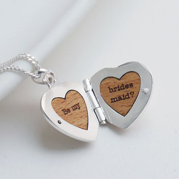 Personalised Sterling Heart Locket