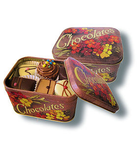 Handmade Chocolates And Tin - food & drink gifts
