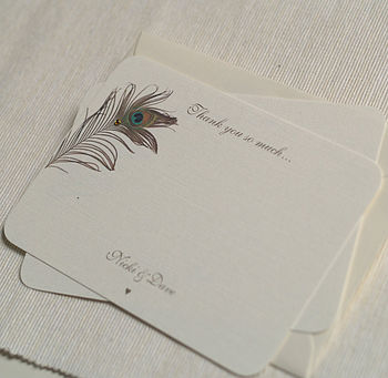 Peacock Feather Thank You Cards