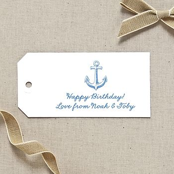 Personalised Anchor Gift Tags