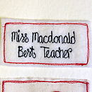 Personalised Teacher Card Red Apple