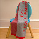 true red on silver grey personalised kids scarf