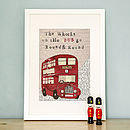 'The Wheels On The Bus' Art Print