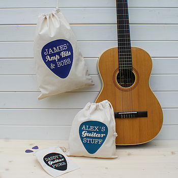 Personalised Guitar Pick Gadget Bag
